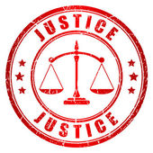 Justice vector stamp — Vetorial Stock