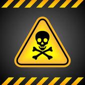 Danger skull sign — Stock Vector