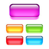 Cam web düğmeleri — Stok Vektör