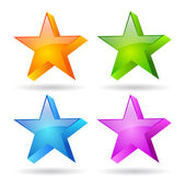 Glass stars set — Stok Vektör
