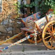 Painted traditional sicilian cart — Stock Photo
