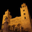 Cefalu cathedral at night - Stock Photo
