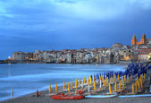 Evening light on Cefalu , Sicily — Stock Photo