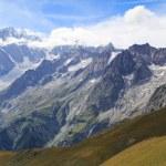 Famous Mont Blanc panorama — Stock Photo