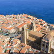 Cefalu cathedral and town from above — Stock Photo