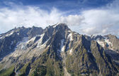Panoramic view of Grand Jorasses ices — Stock Photo