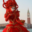 Red venice carnival dress — Stock Photo #13467120