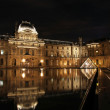 Louvre museum reflection - Stock Photo