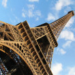 Eiffel tower against blue sky - Stock Photo