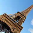 Diagonal view of Eiffel Tower - Stock Photo
