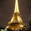 Lighted Eiffel tower — Stock Photo