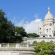 White cathedral of Sacre Coeur - Stock Photo