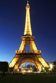 Twilight Eiffel tower — Stock Photo