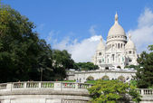 White cathedral of Sacre Coeur — Stock Photo