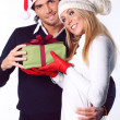 Beautiful Christmas couple — Stock Photo #14754391