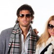 Stock Photo: Couple of fashion models