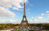 Eiffel Tower and cityscape from Trocadero — Stock Photo