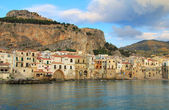 Sicilian town of Cefalu — Stock Photo
