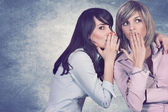 Secrets between friends — Stock Photo