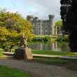 Beautiful garden and park of Irish castle — Stock Photo