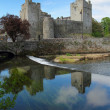 Cahir castle reflection — Stock Photo