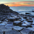 Giant's Causeway at sunset — Stock Photo