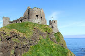 Ancient Dunluce castle — Stock Photo