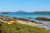 Camping in Ring of Kerry coast — Stock Photo