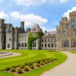 Ashford castle main structure and garden — Stock Photo
