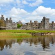 Ashford castle reflected in the water — Stock Photo