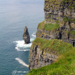 Cliffs of Moher with tower — Stock Photo