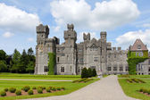 Ashford castle facade — Stock Photo