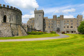 Ashford castle back entrance and tower — Stock Photo