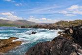 Irská krajina v kruhu kerry pobřežní silnice — Stock fotografie