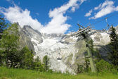Chair lift in Veny valley — Stock Photo