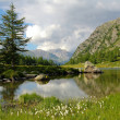 Alpine lake of Arpy in Aosta Valley — Stock Photo #30749575