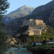 Fortress of Bard in Aosta Valley — Stock Photo