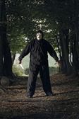 Creepy masked killer — Stock Photo