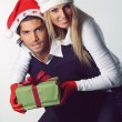 Christmas couple happy and funny — Stock Photo #32276183