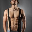Studio shot of a sexy shirtless man — Stock Photo #32418431