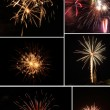 Fireworks collage — Stock Photo