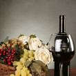 Beautiful red wine composition — Stock Photo