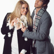 Funny couple ready for shopping — Stock Photo #34395189