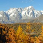 Mont Blanc massif panorama — Stock Photo