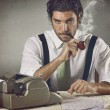 Stock Photo: Vintage portrait handsome writer