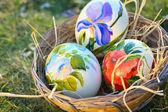 Big ostrich decorative eggs — Stock Photo