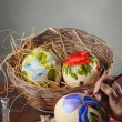 Easter eggs painting — Stock Photo