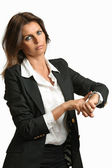 Manager woman angry for lateness — Stock Photo
