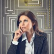 Business woman finds a good idea — Stock Photo