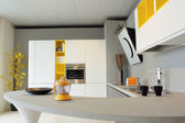Beautiful yellow and white kitchen — Foto de Stock